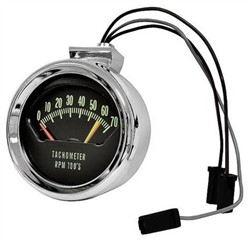 1966 Chevelle Tachometer Knee Knocker 6200 Red Line
