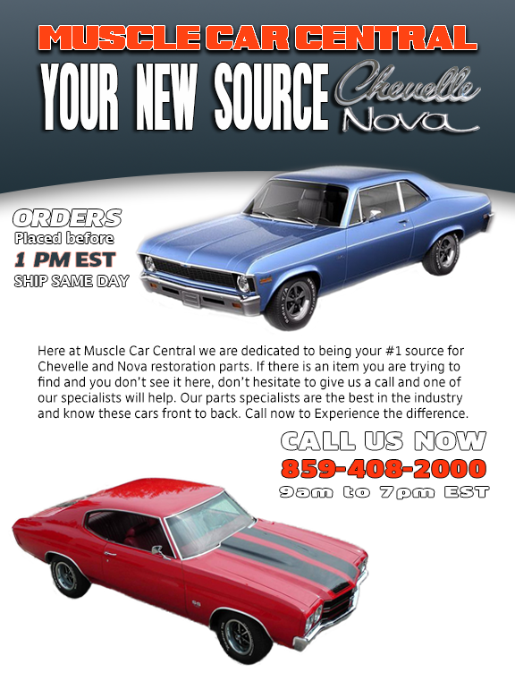 Muscle Car Central Muscle Car Parts Chevelle And Nova - Muscle car parts